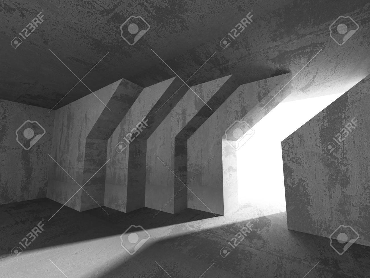 Fondo Concreto Arquitectura. Resumen Cuarto Oscuro Vacío. 3d ...