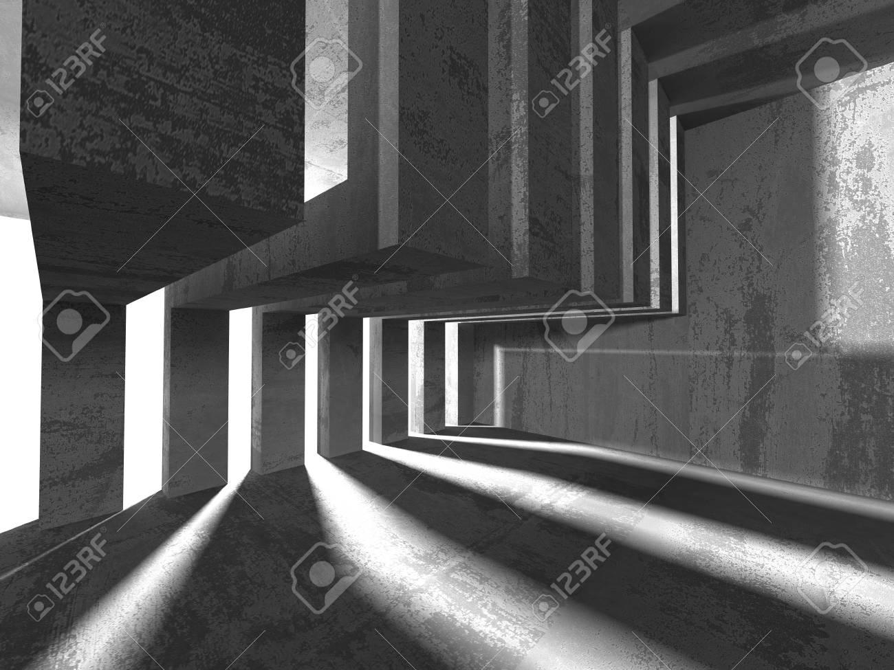 Konkreter Architektur Hintergrund Abstrakter Leerer Dunkler Raum