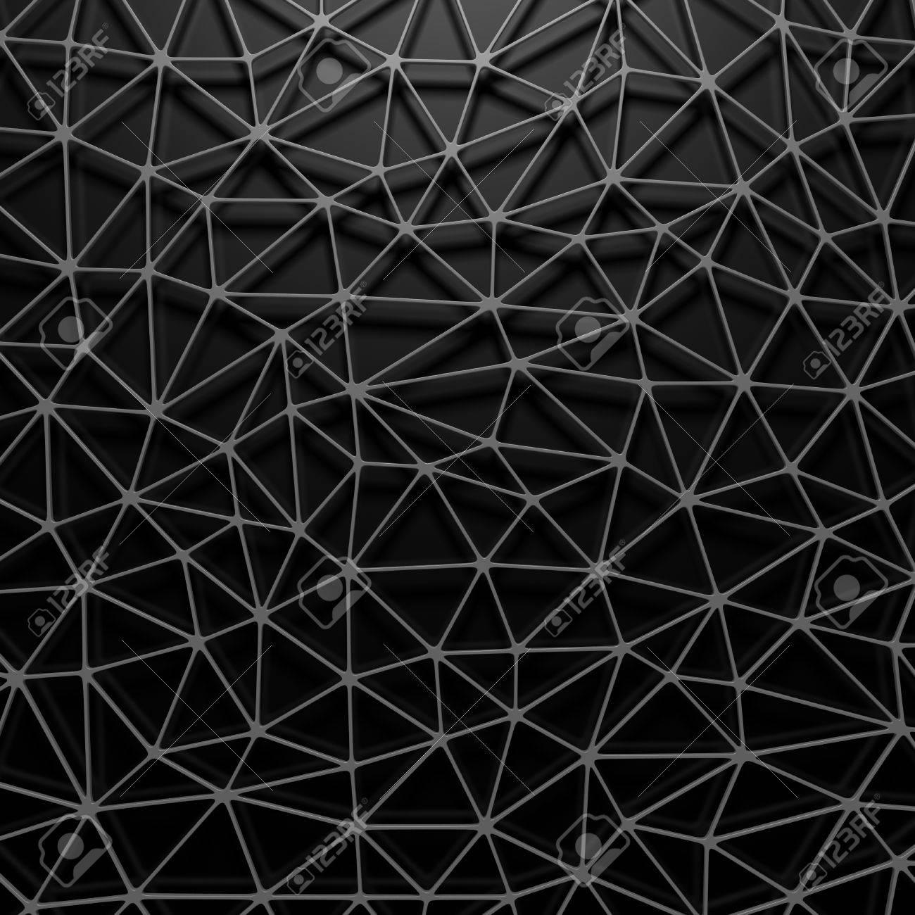 Fond D Écran Noir fond d'écran noir de motifs métalliques métalliques triangulaires