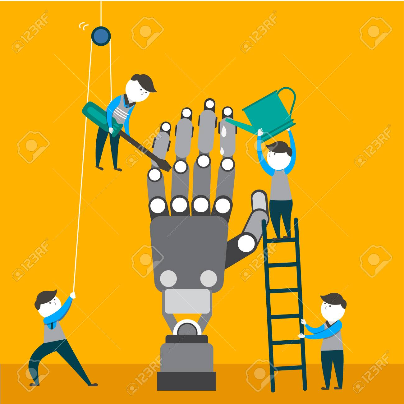 Engineers Are Making And Checking Robotic Arm Robotics Engineering