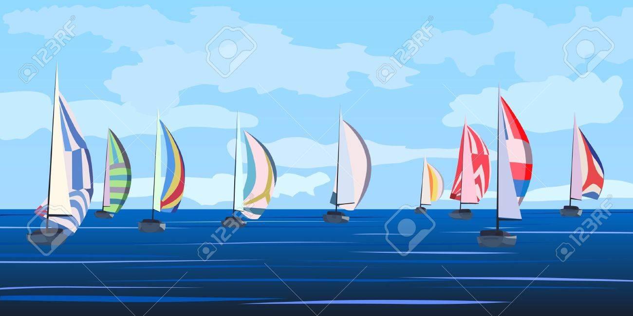 """Résultat de recherche d'images pour """"dessin voilier régates"""""""