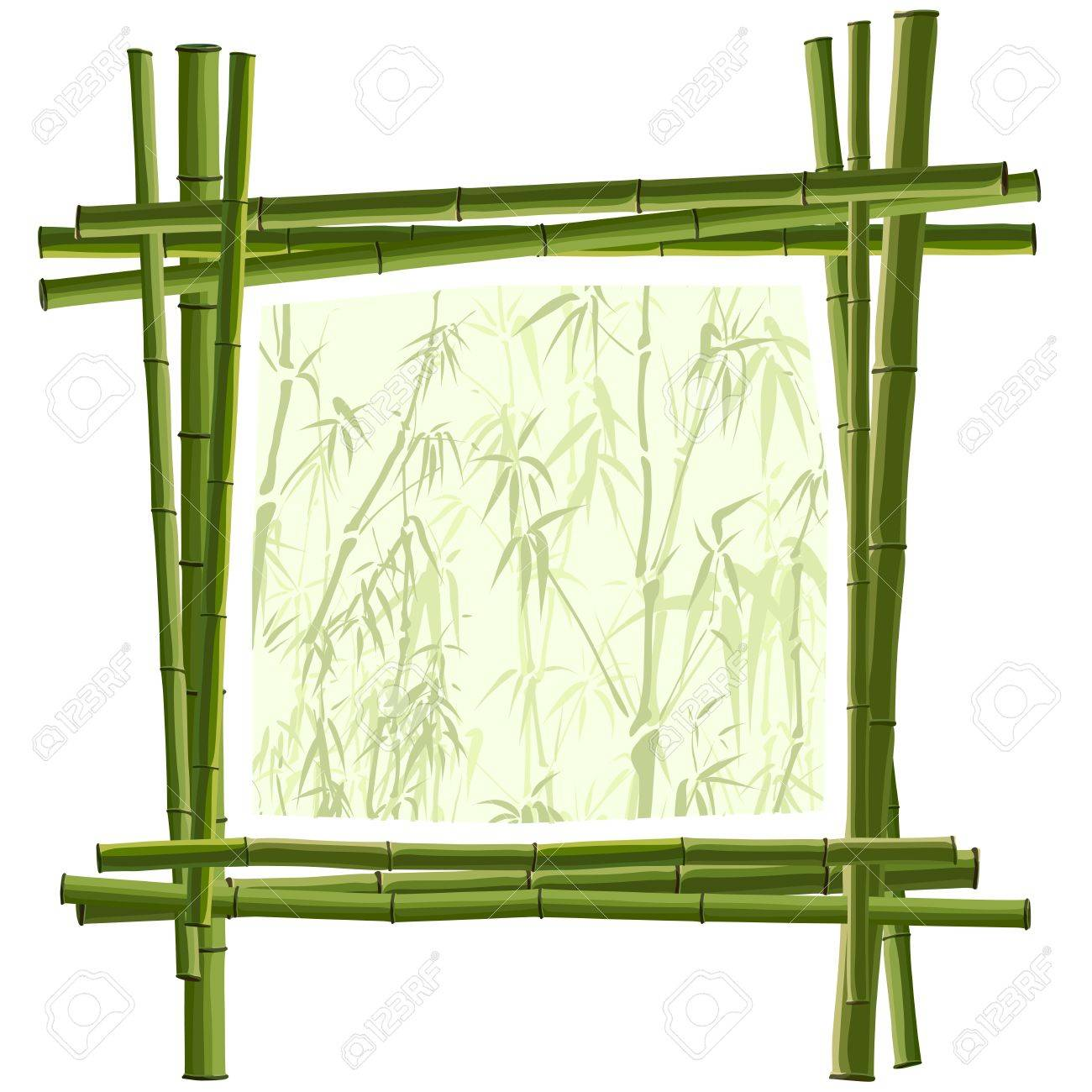 Vector Quadratischen Rahmen Für Die Fotografie Von Grün Bambus ...