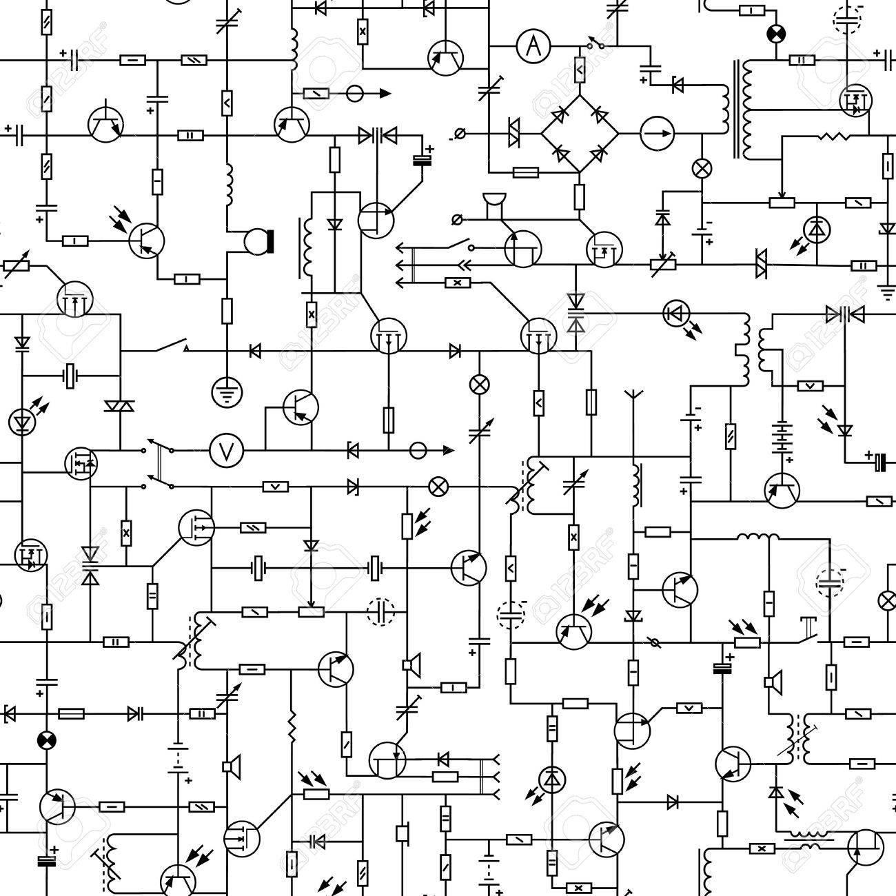 Draw Electric Circuit Amusing Symbols Electric Circuit Components Electrical Electronic