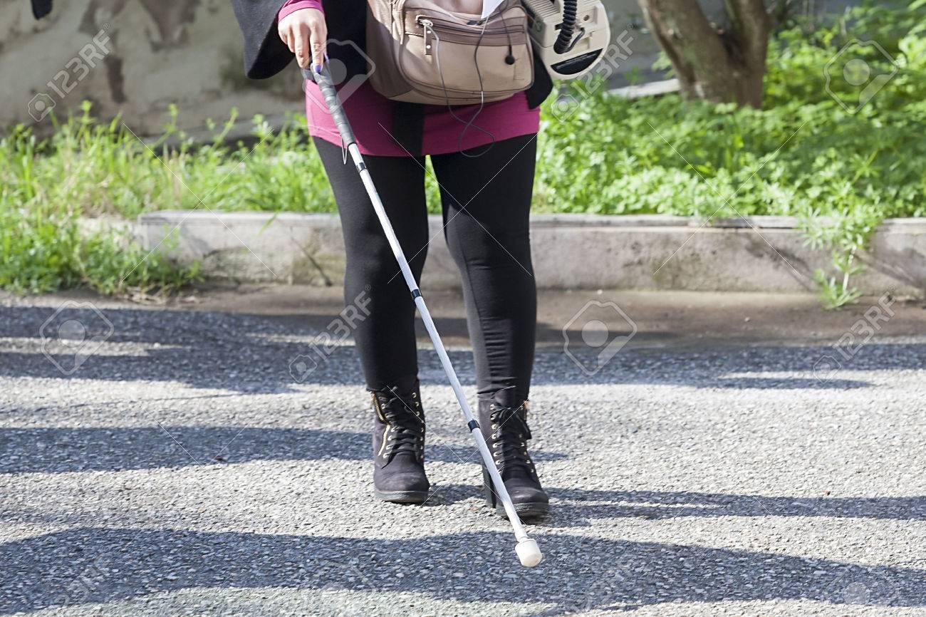 Close up in blind woman Standard-Bild - 26511655
