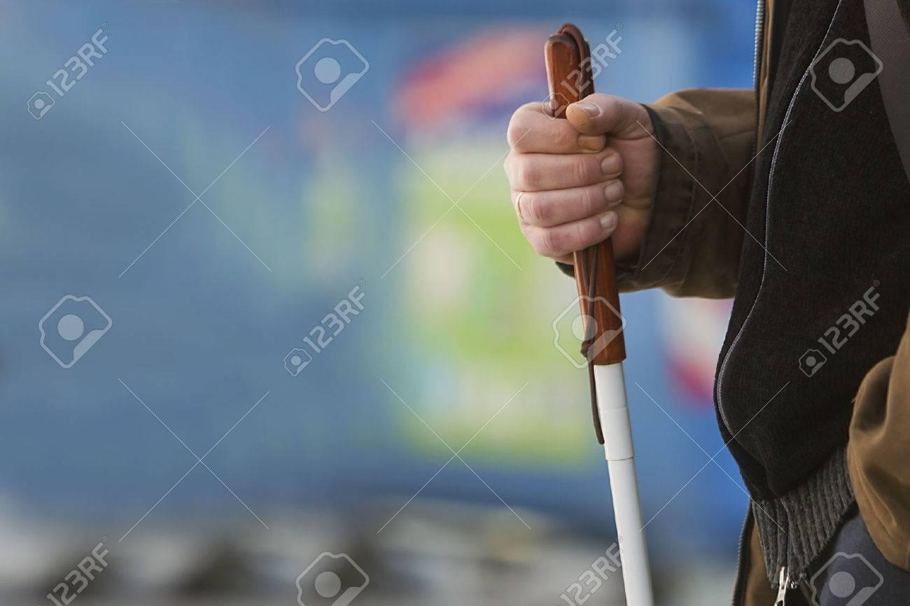 Close up in blind man Standard-Bild - 26511664