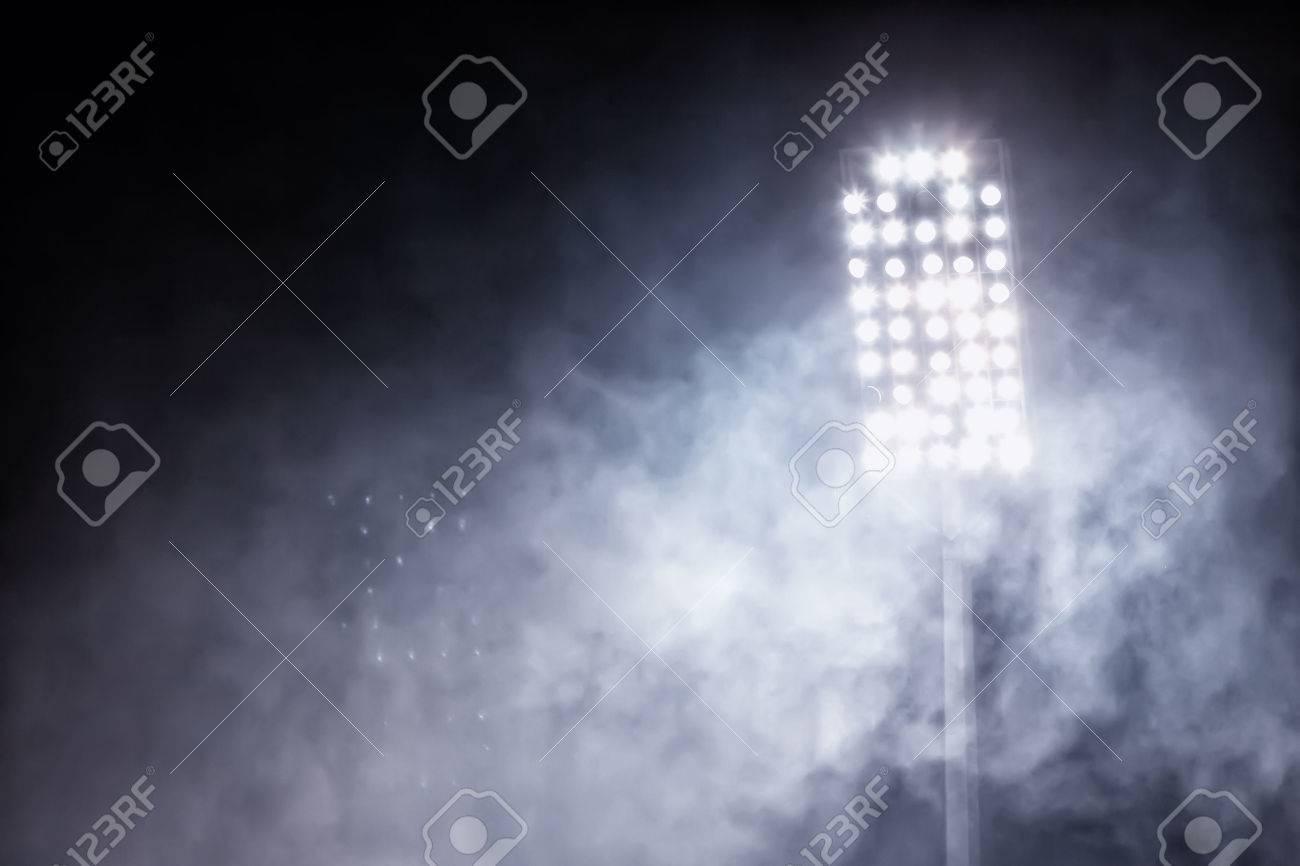 stadium lights and smoke Standard-Bild - 33973186