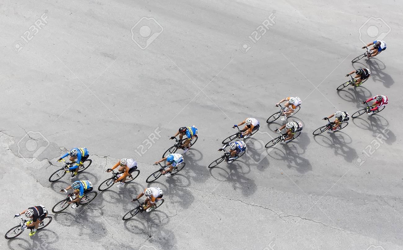 Circuito Grecia : Salónica grecia 29 de septiembre de 2015. los ciclistas compiten