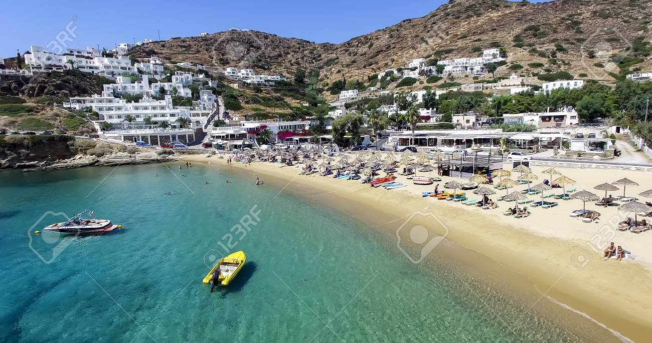 Ios Greece September 19 2015 Aerial View Of The Beaches Stock Photo Picture And Royalty Free Image Image 53090867