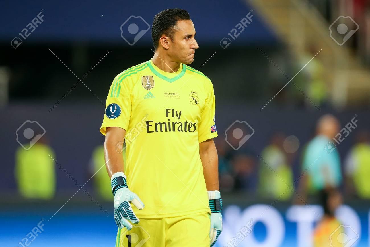 new style c3997 d10ad Skopje, FYROM - August 8,2017: Real Madrid Keylor Navas during..
