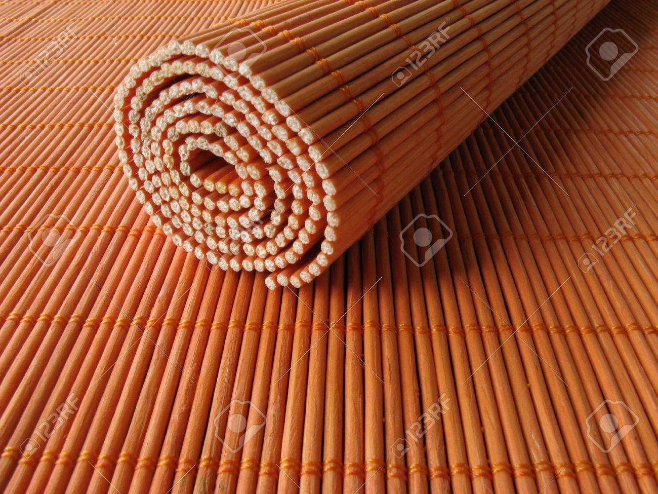 Bamboo wooden placemats Stock Photo - 2734712