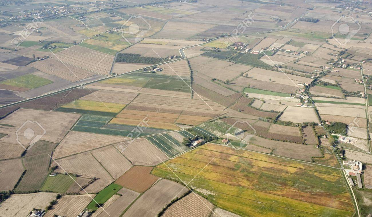 Aerial View Of Intensive Farming Plain Stock Photo, Picture And ...