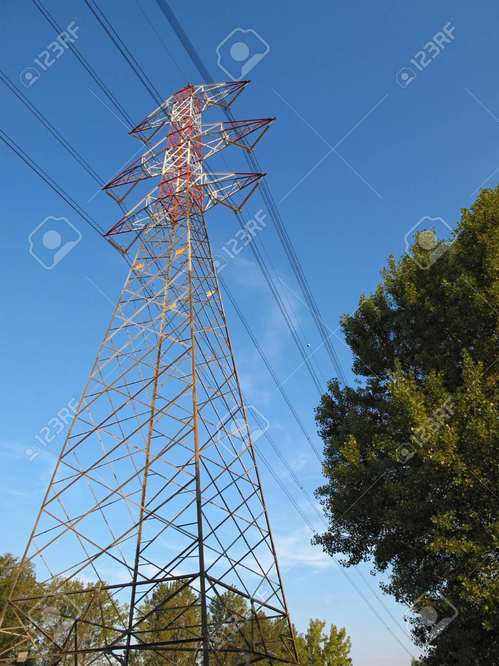 High voltage pylon Stock Photo - 12633546