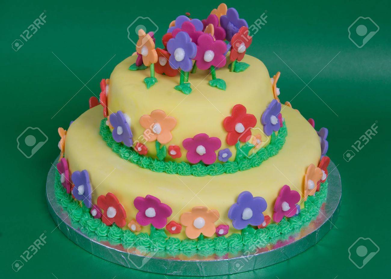 Spring Flower Cake Stock Photo Picture And Royalty Free Image