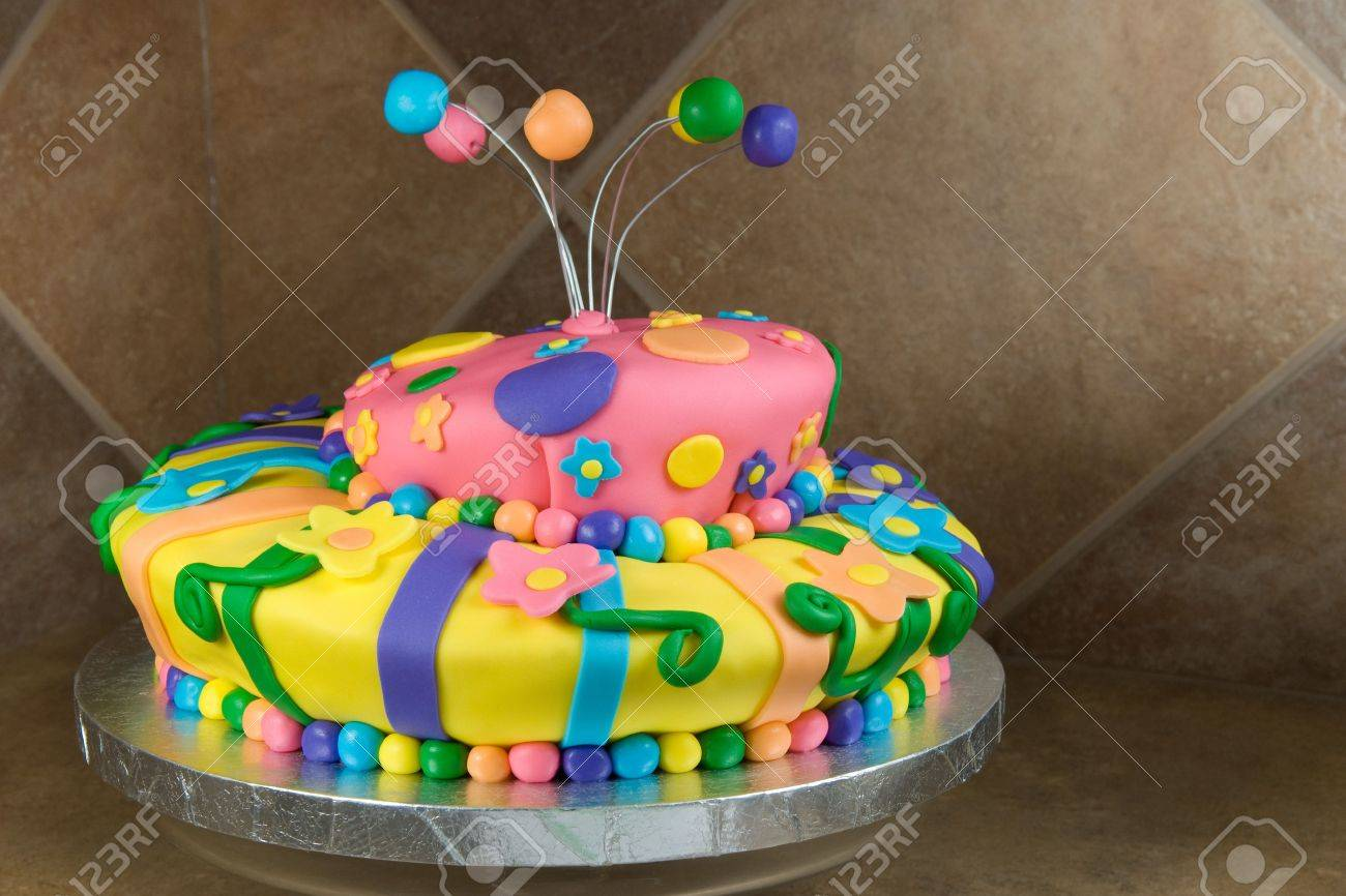 Colorful and Playful Birthday Cake Stock Photo - 7806502