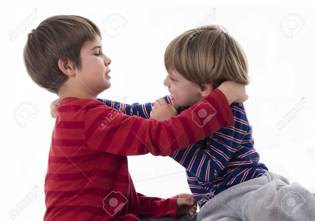 brothers fighting Stock Photo - 18125951