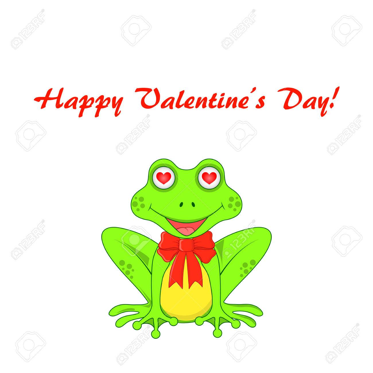 postcard on valentines day with frogs isolated royalty free cliparts rh 123rf com Frog Silhouette Tree Frog Vector