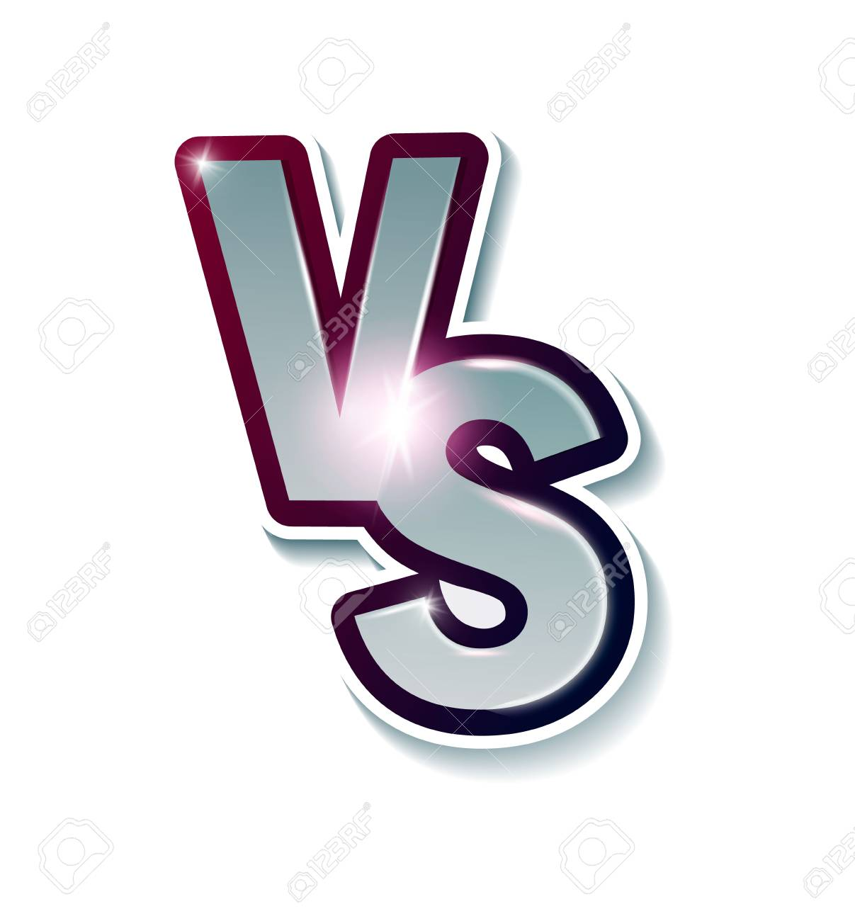 Versus Sign Like Opposition Concept Of Confrontation Together