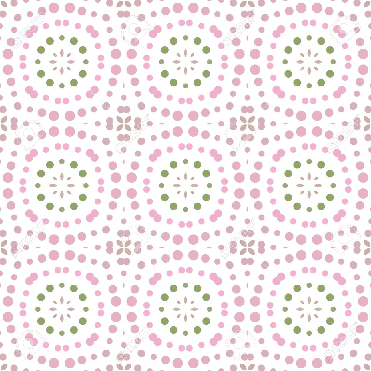 Seamless abstract pattern background with a variety of colored circles. - 141965498