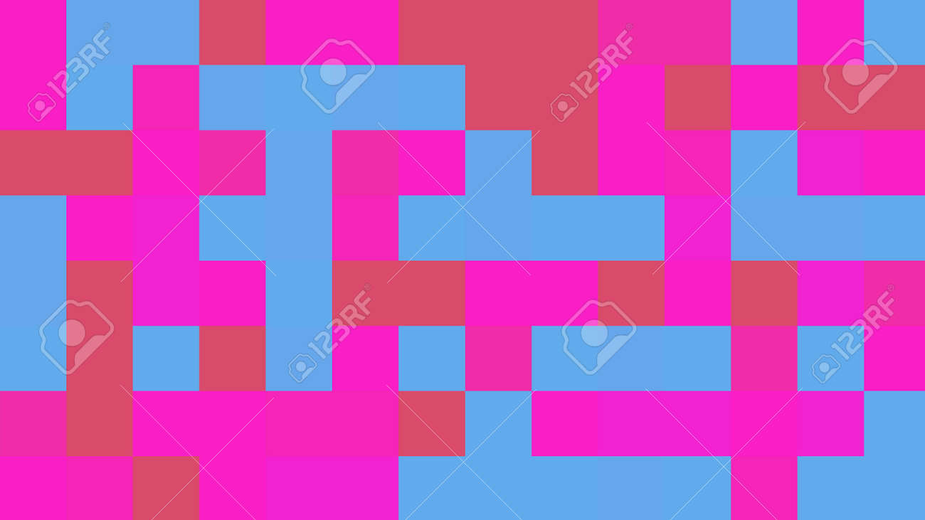 Background of squares. Different shades. With color and light transitions. Background for design. - 141965495