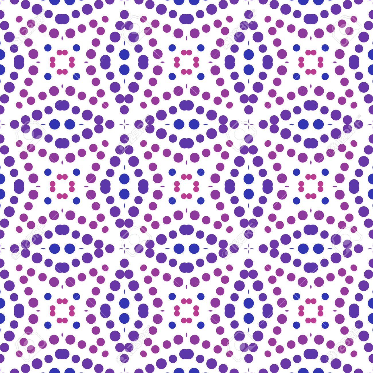 Seamless abstract pattern background with a variety of colored circles. - 141929048