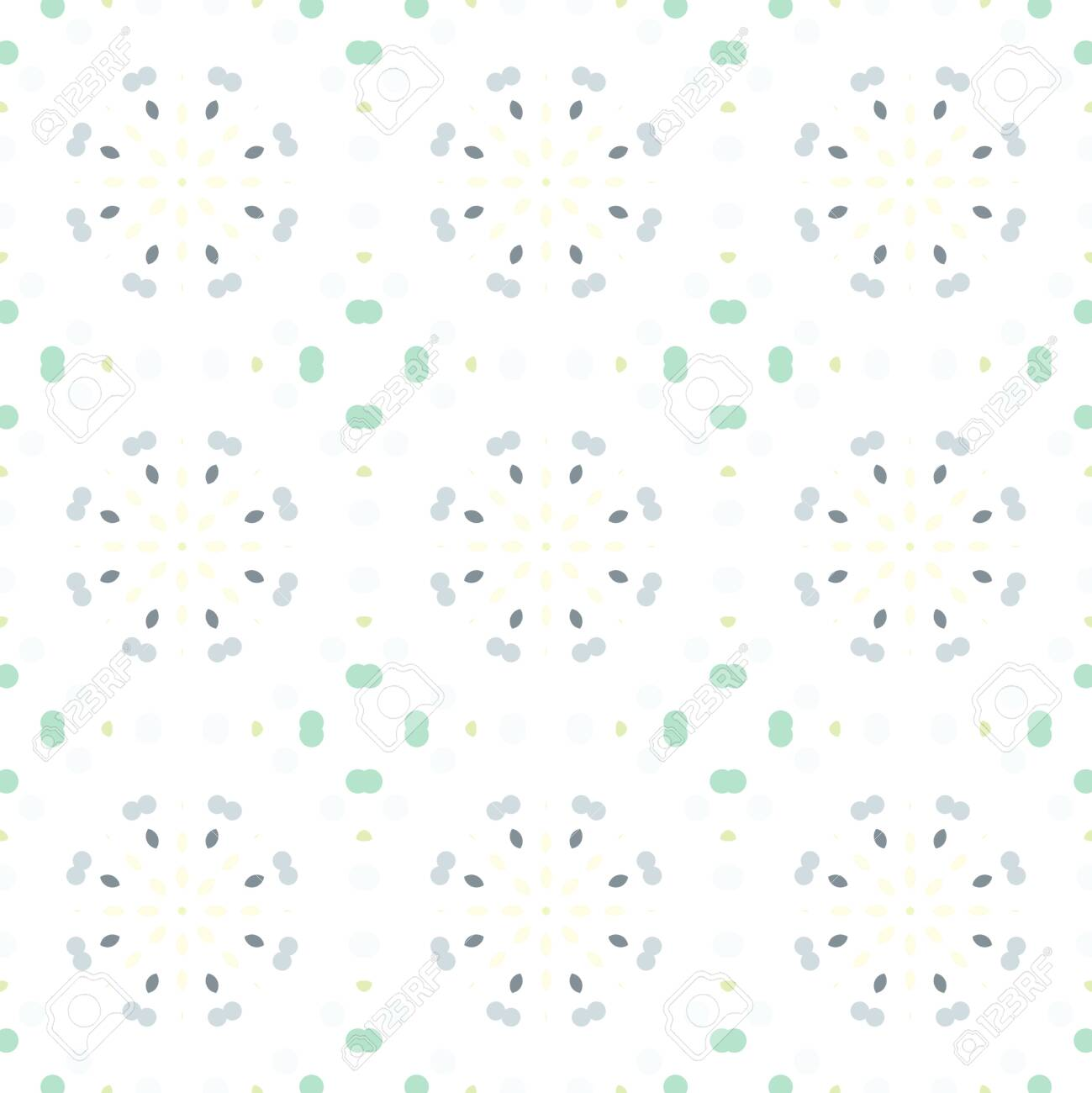 Seamless abstract pattern background with a variety of colored circles. - 141929116
