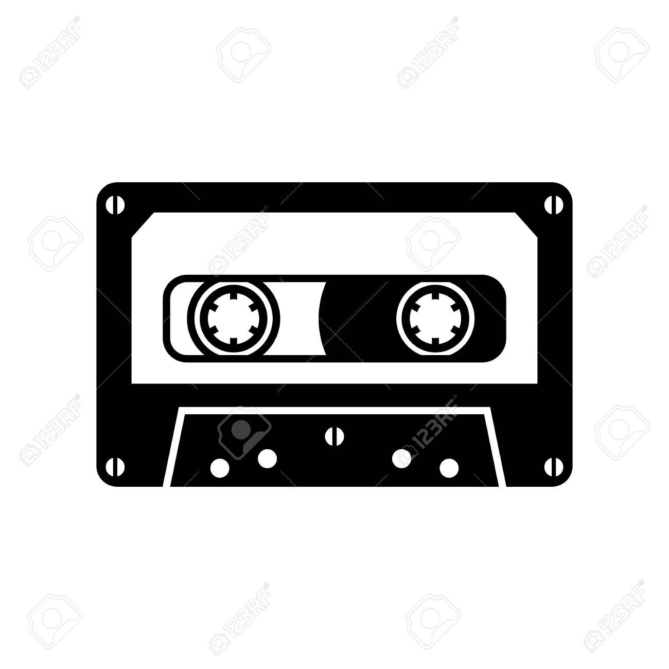 オーディオカセットテープ クリップアート切り張りイラスト絵画