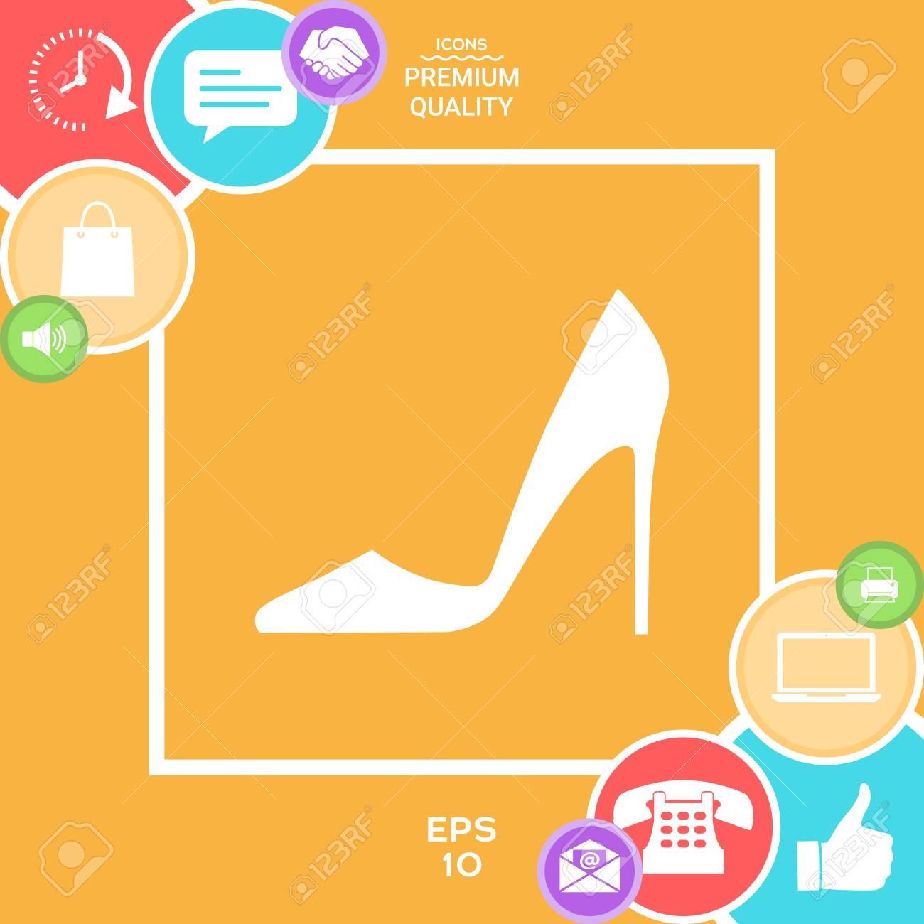 エレガントなレディース靴。Web デザインのメニュー項目