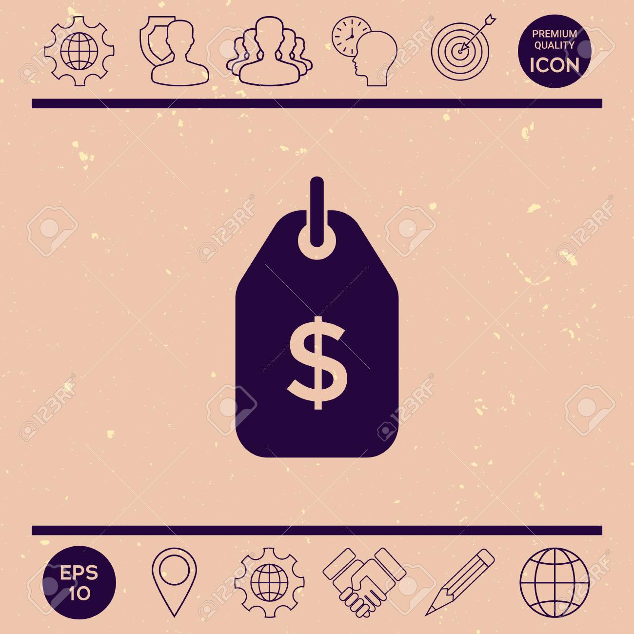 Tag With Dollar Symbol Price Tag Icon For Download Royalty Free