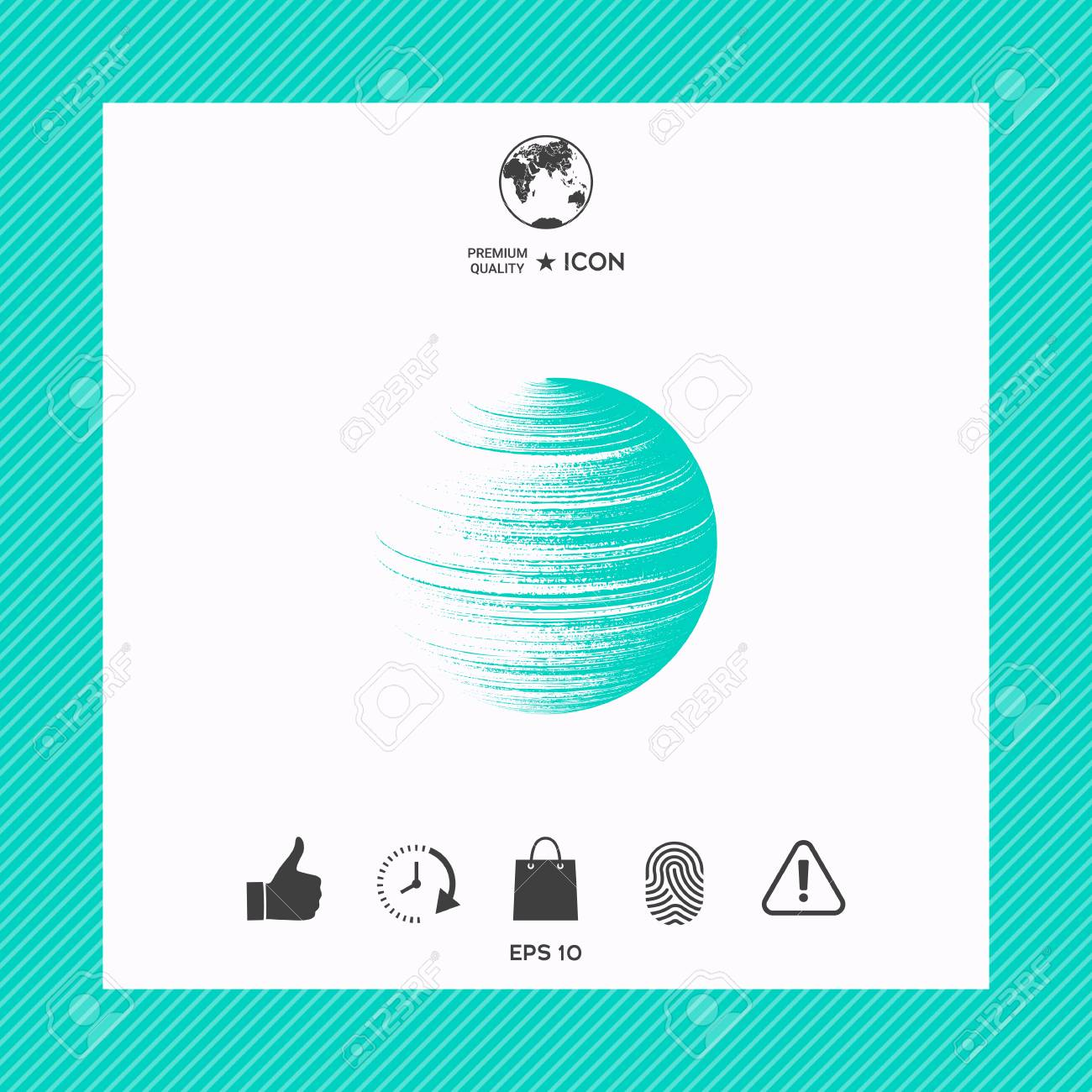Abstract Earth Icon In A Frame Royalty Free Cliparts, Vectors, And ...