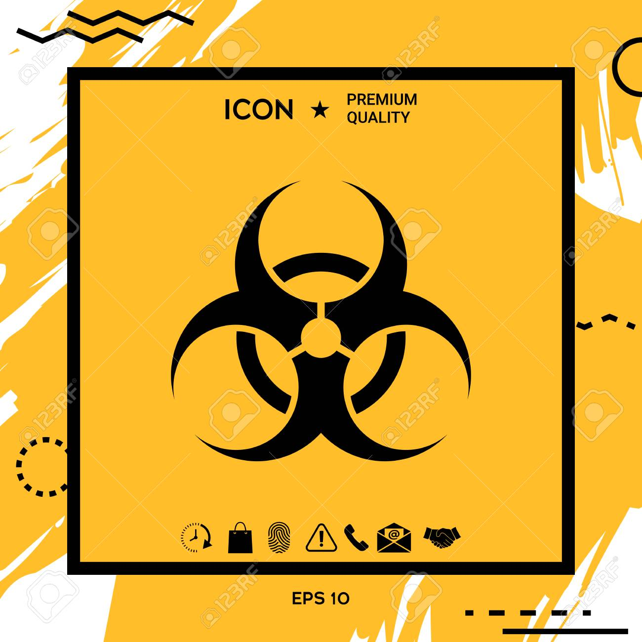 biological hazard sign royalty free cliparts vectors and stock