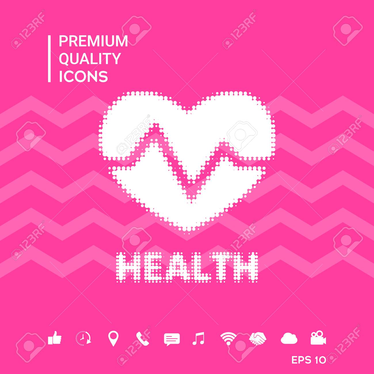 Heart Signs And Symbols Graphic Elements For Your Design Royalty