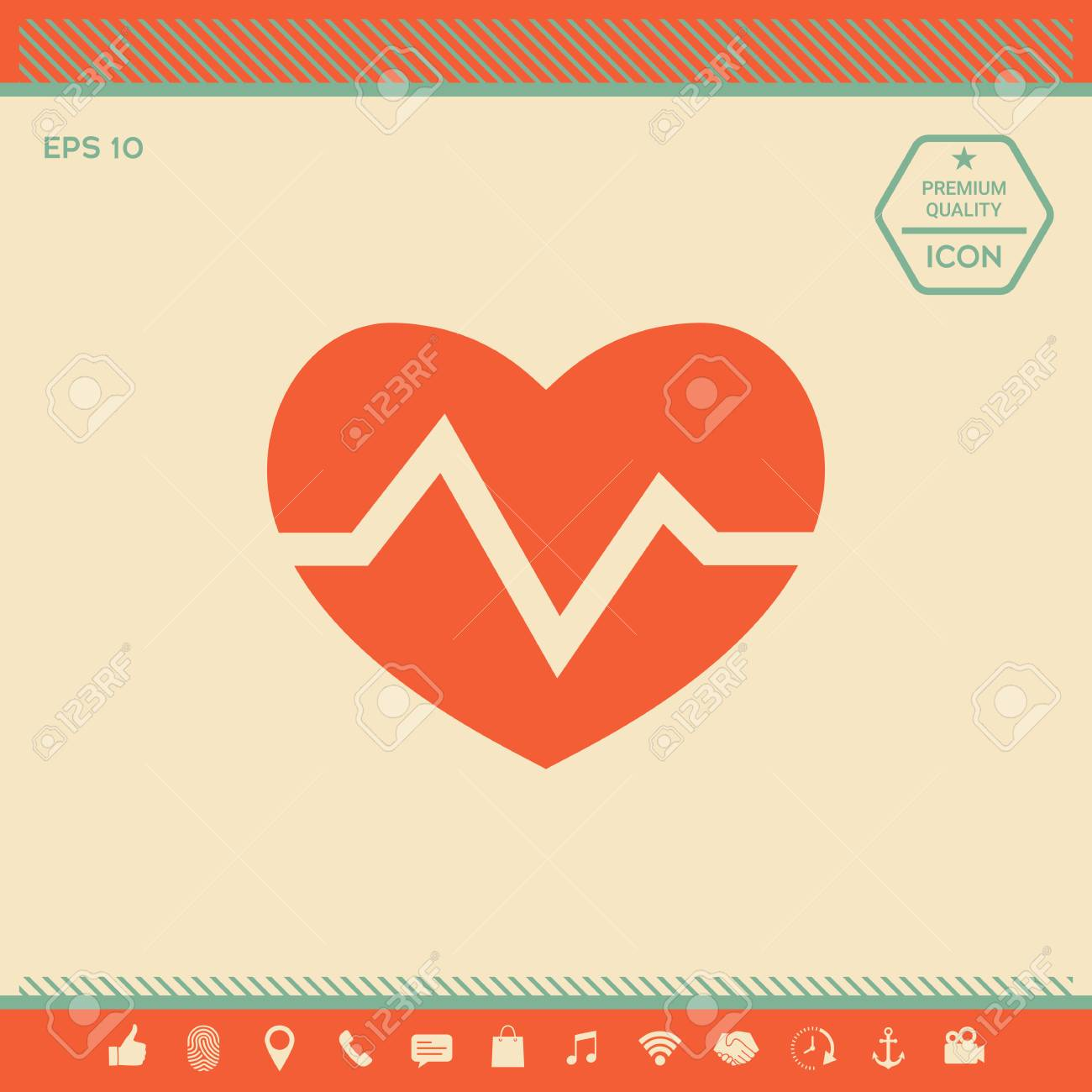 Heart Medical Icon Signs And Symbols Graphic Elements For