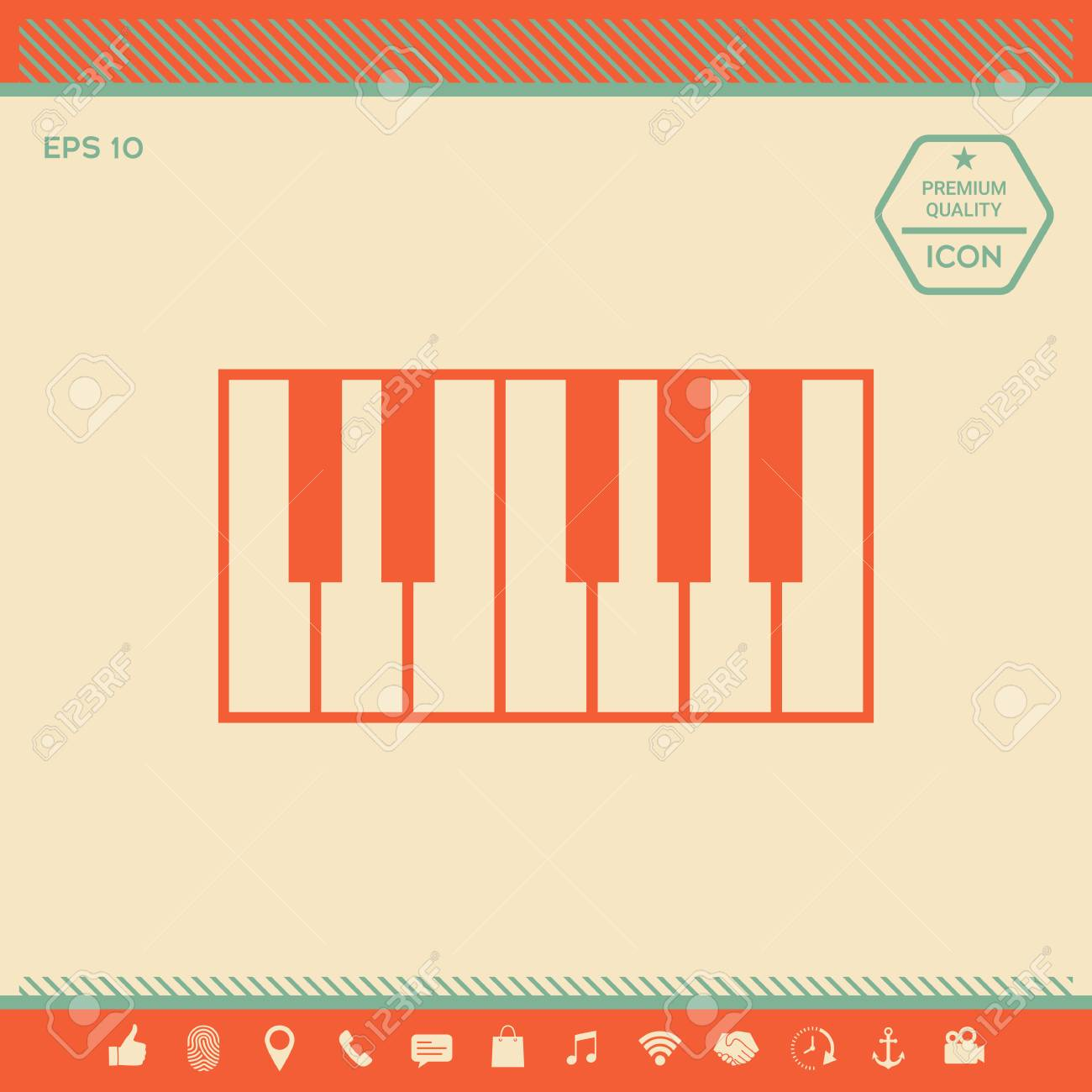 Piano keyboard icon   Signs and symbols - graphic elements for