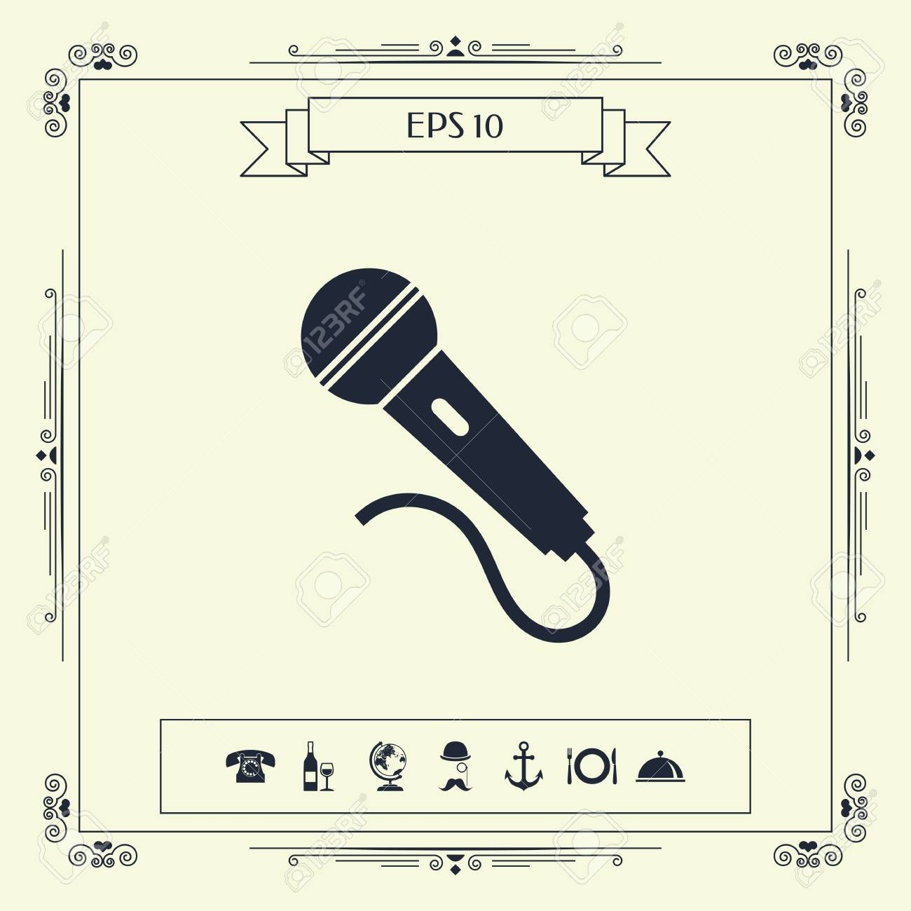 microphone symbol icon signs and symbols graphic elementsmicrophone symbol icon signs and symbols graphic elements for your design stock vector