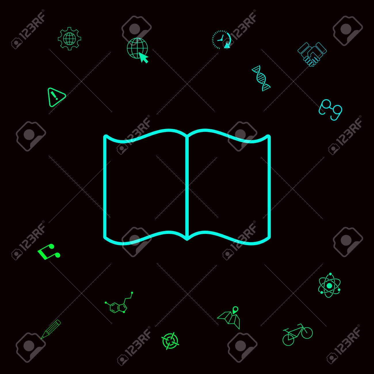 Open book symbol icon . Signs and symbols - graphic elements for your designt - 110785578