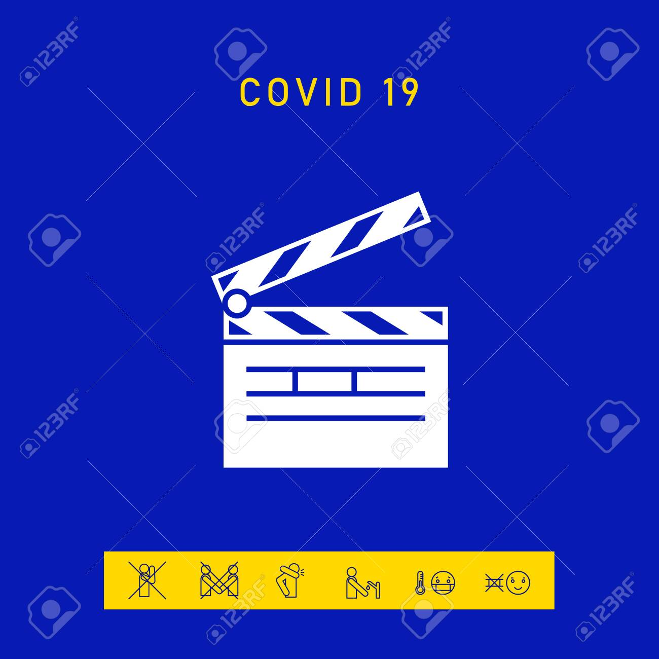 Clapperboard icon. Element for your design - 144674455