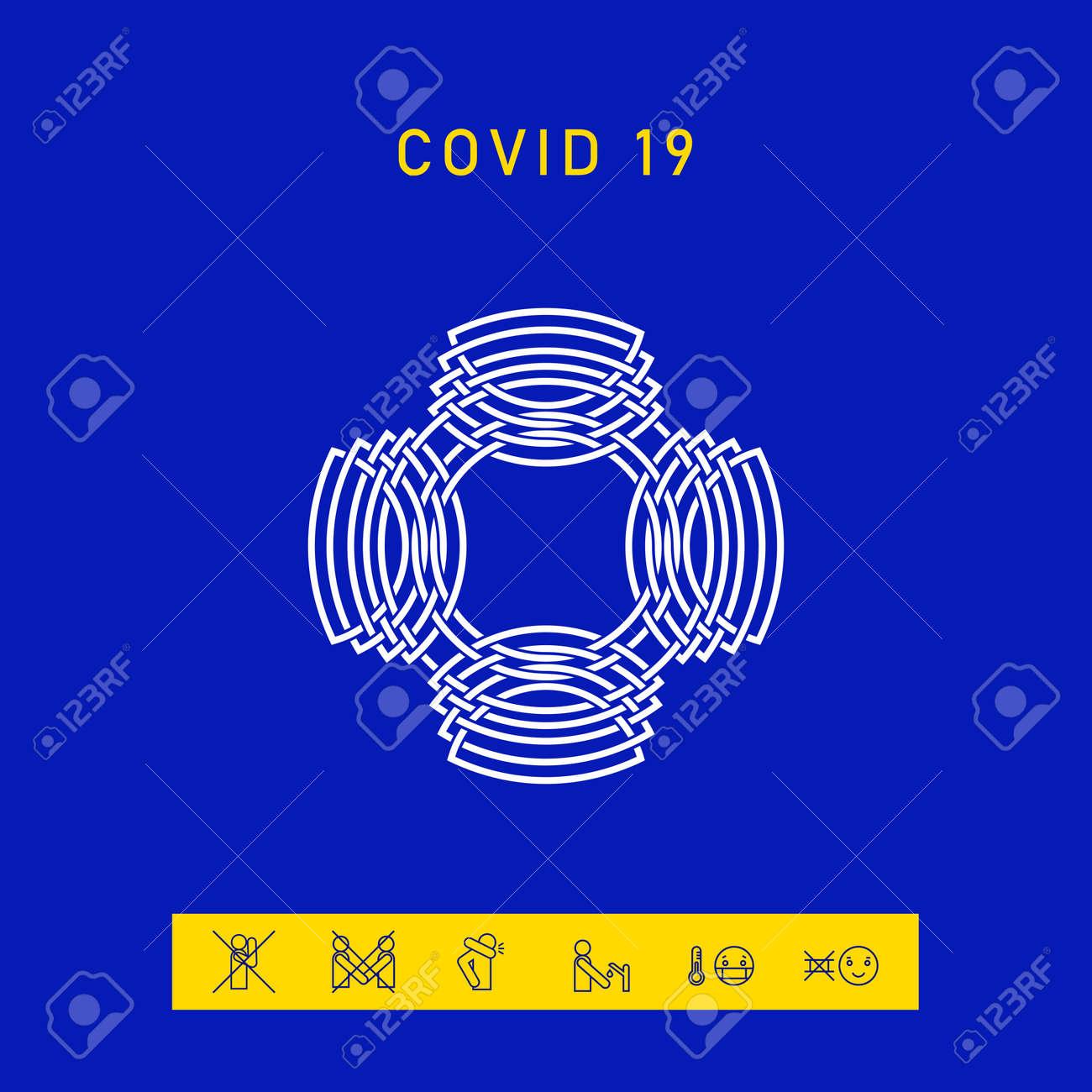 Geometric oriental arabic pattern. Logo. - 144755812