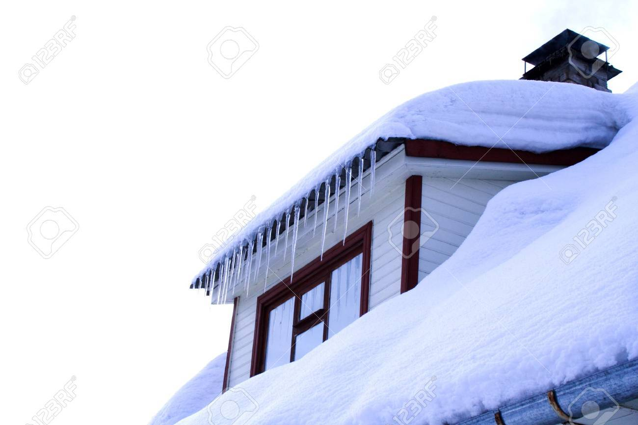 cold winter house with wondow close up Stock Photo - 8904846