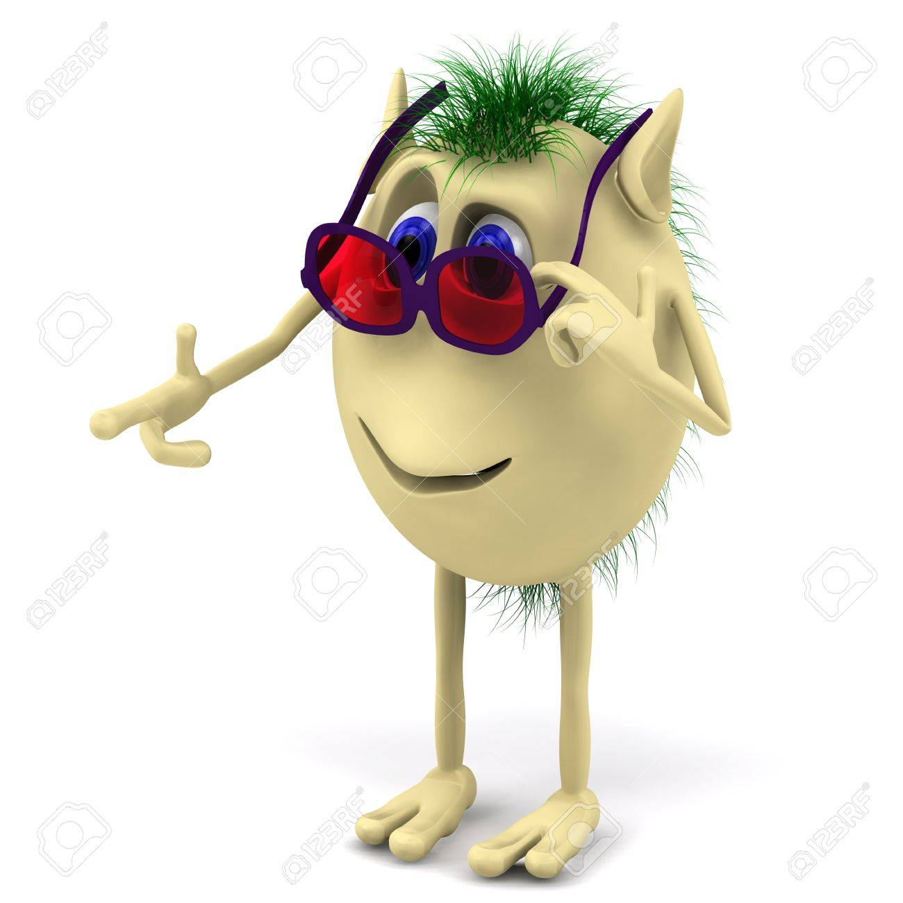f8d7e0df9 3d Funny Character Puppet With Red Glasess Stock Photo, Picture And ...
