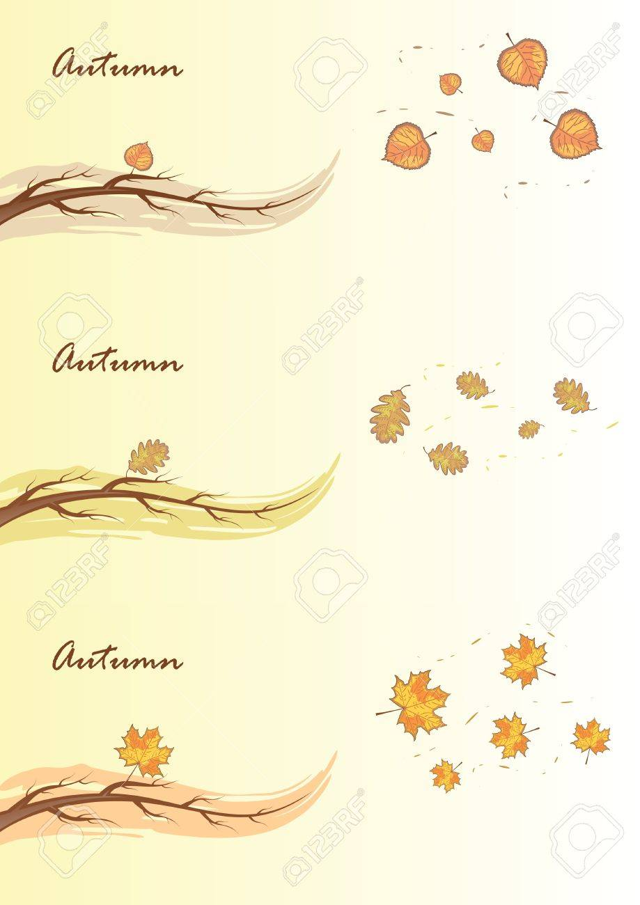 Autumn branches. Stock Vector - 10506596