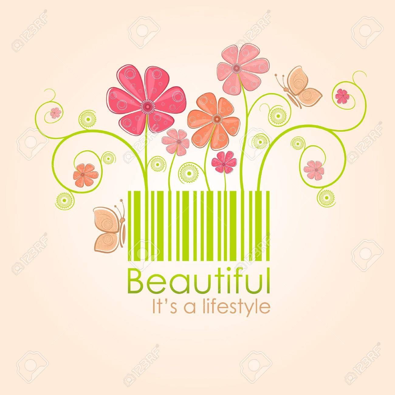 Beautiful nature style Stock Vector - 10985501