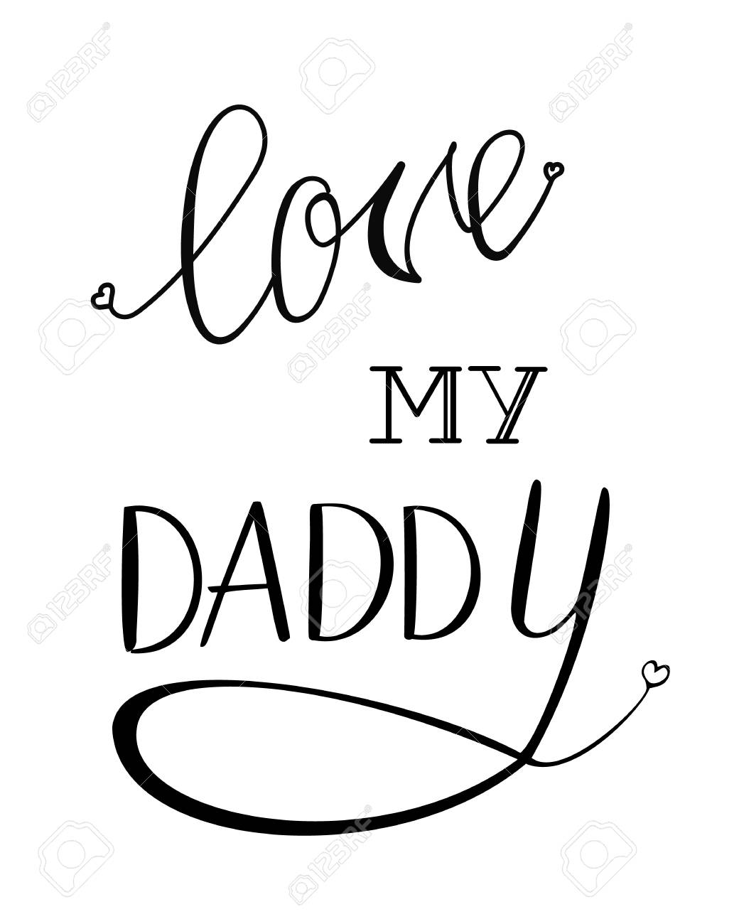 photograph about Printable Lettering identify Vector Printable lettering get pleasure from my daddy upon white record