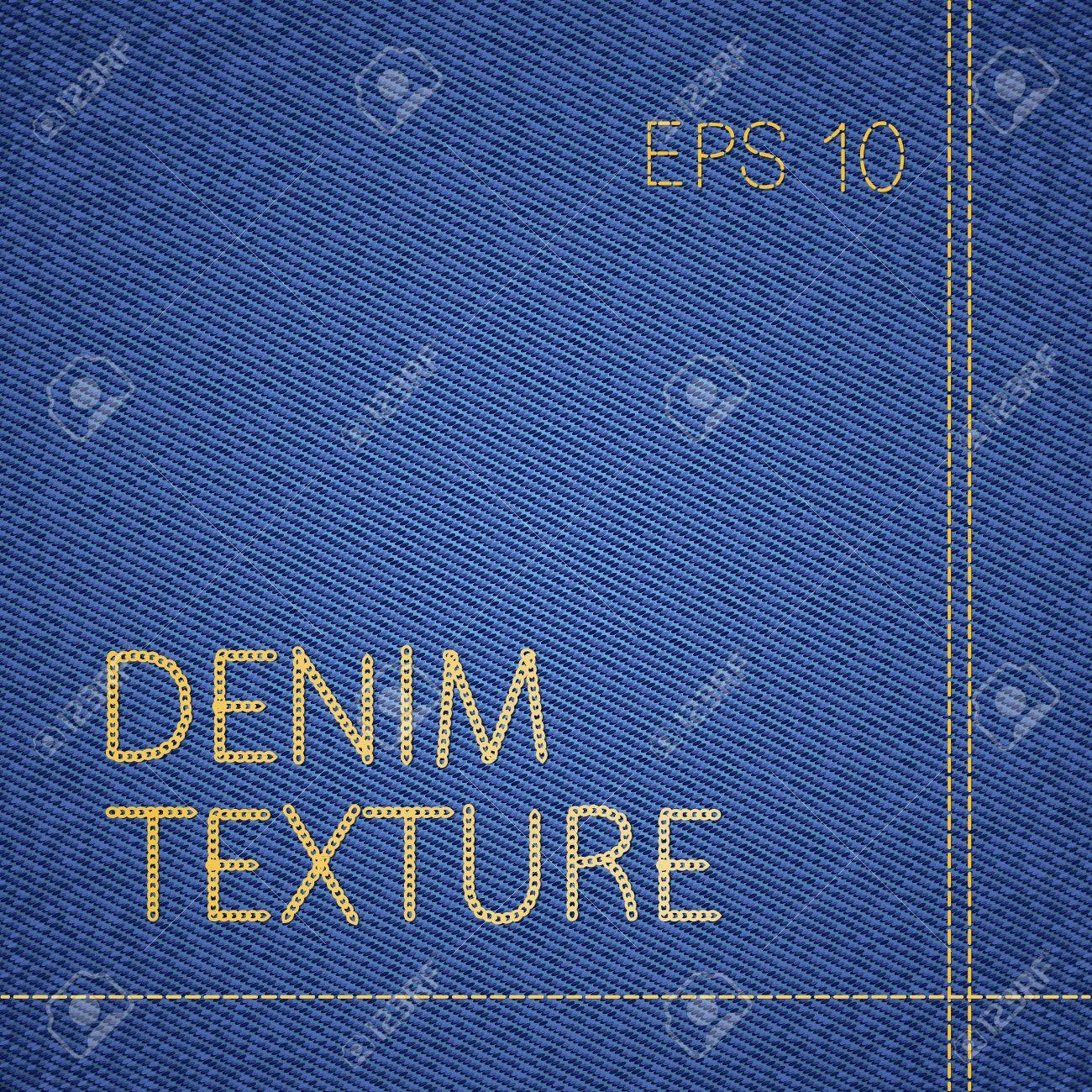 Vector background of classic blue jeans texture Stock Vector - 13605757