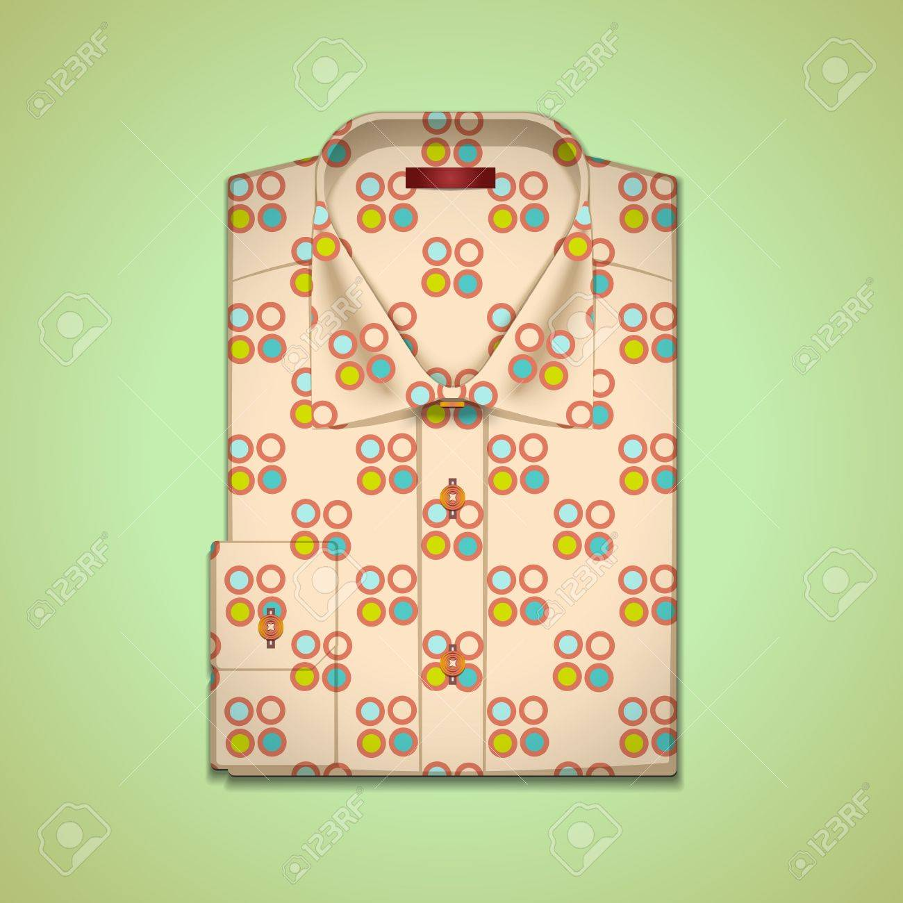image is a man's shirt into a large peas Stock Vector - 13646298