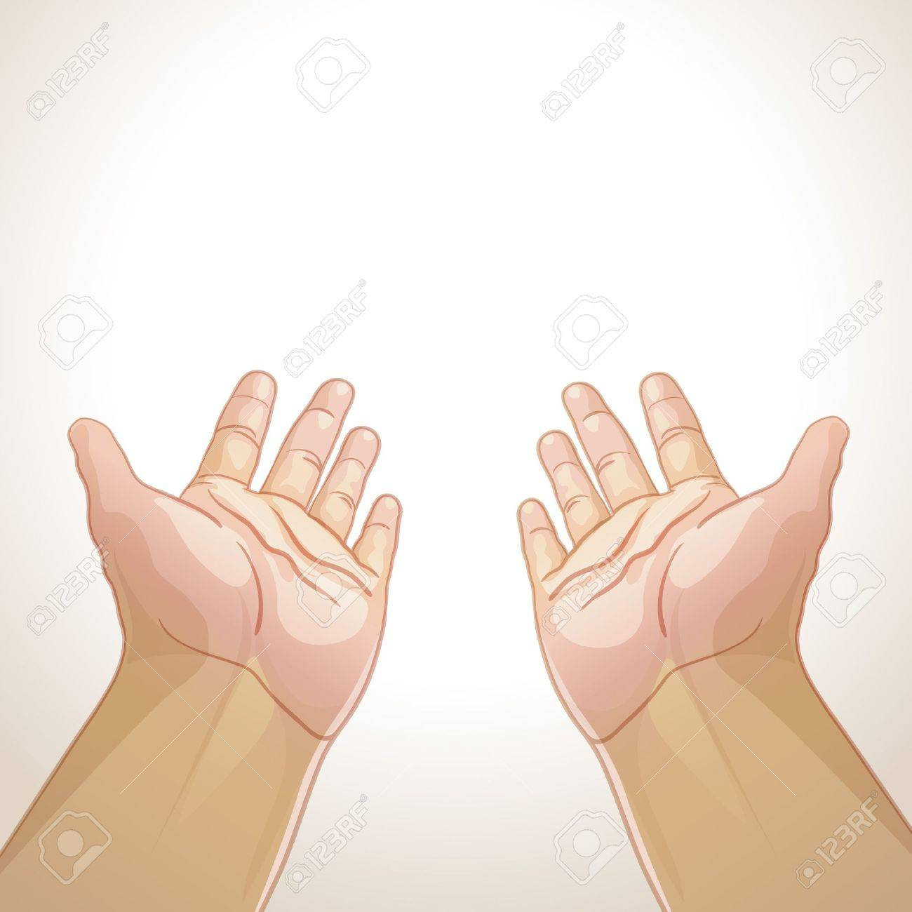 illustration of an outstretched hands Stock Vector - 13646295