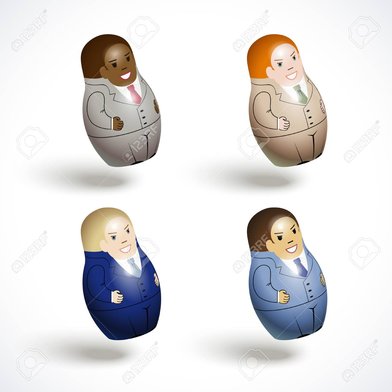 set of an office workers Stock Vector - 13917267