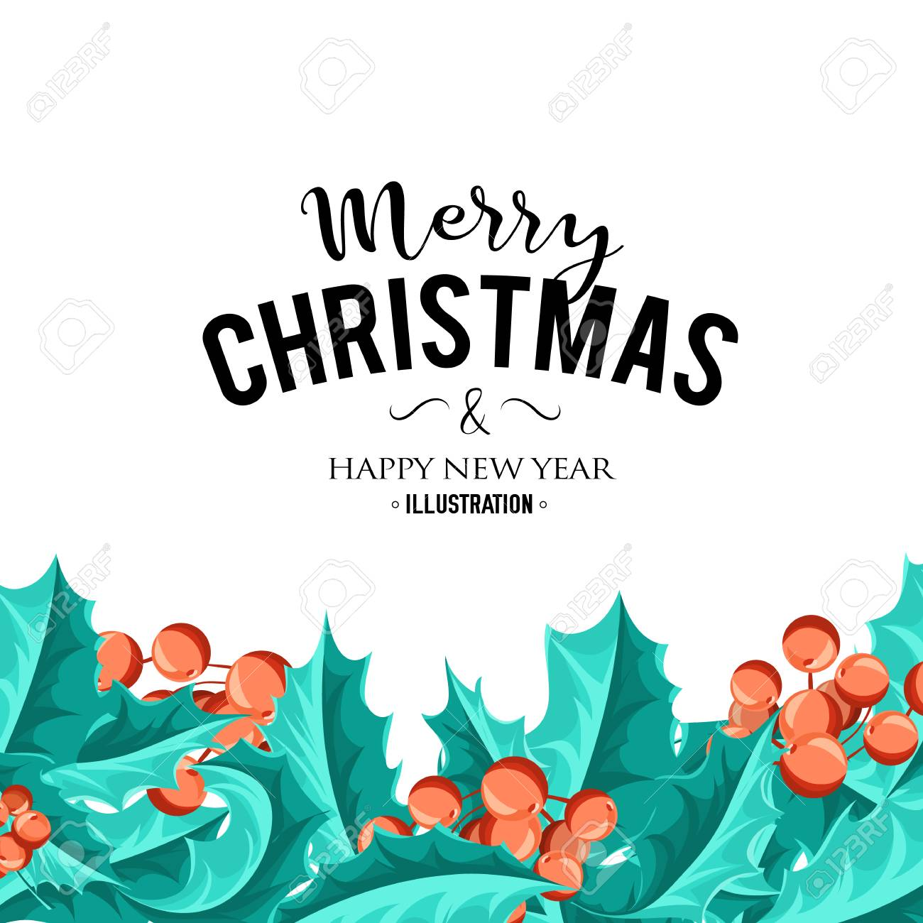 Merry Christmas background. Vector art. Perfect decoration element for cards, invitations and other types of holiday design. - 66786866