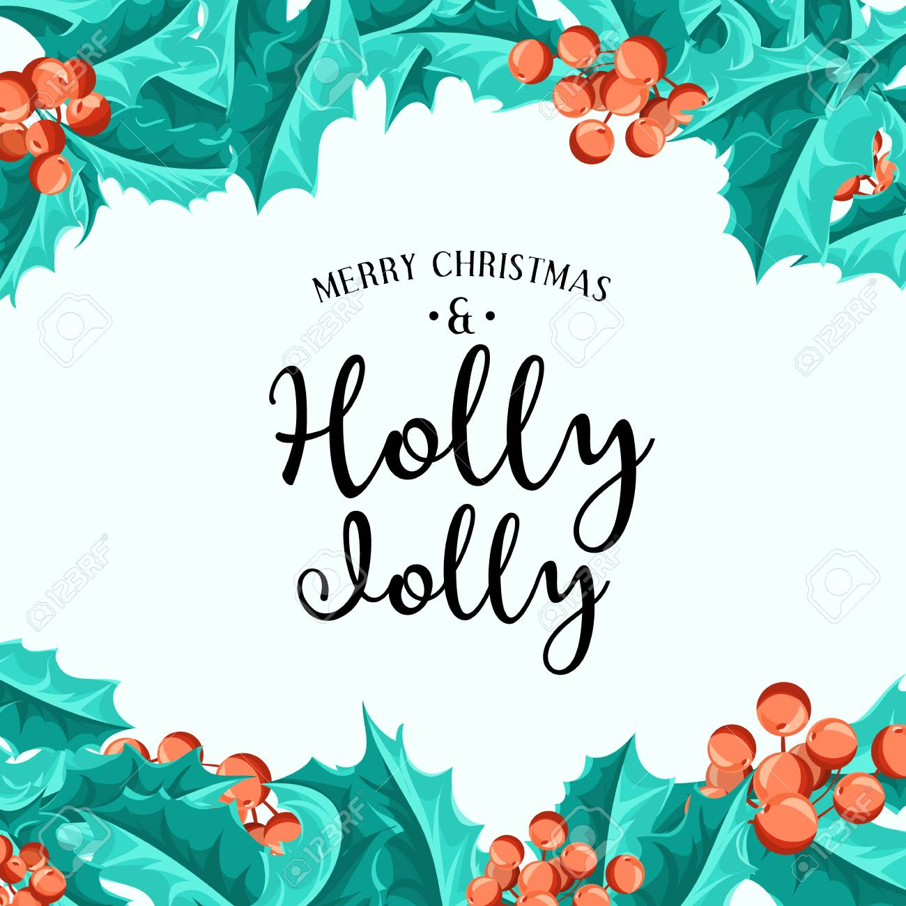 Holly Jolly Fondo De Navidad Arte Del Vector Elemento De Decoración Perfecta Para Las Tarjetas Invitaciones Y Otros Tipos De Diseño De