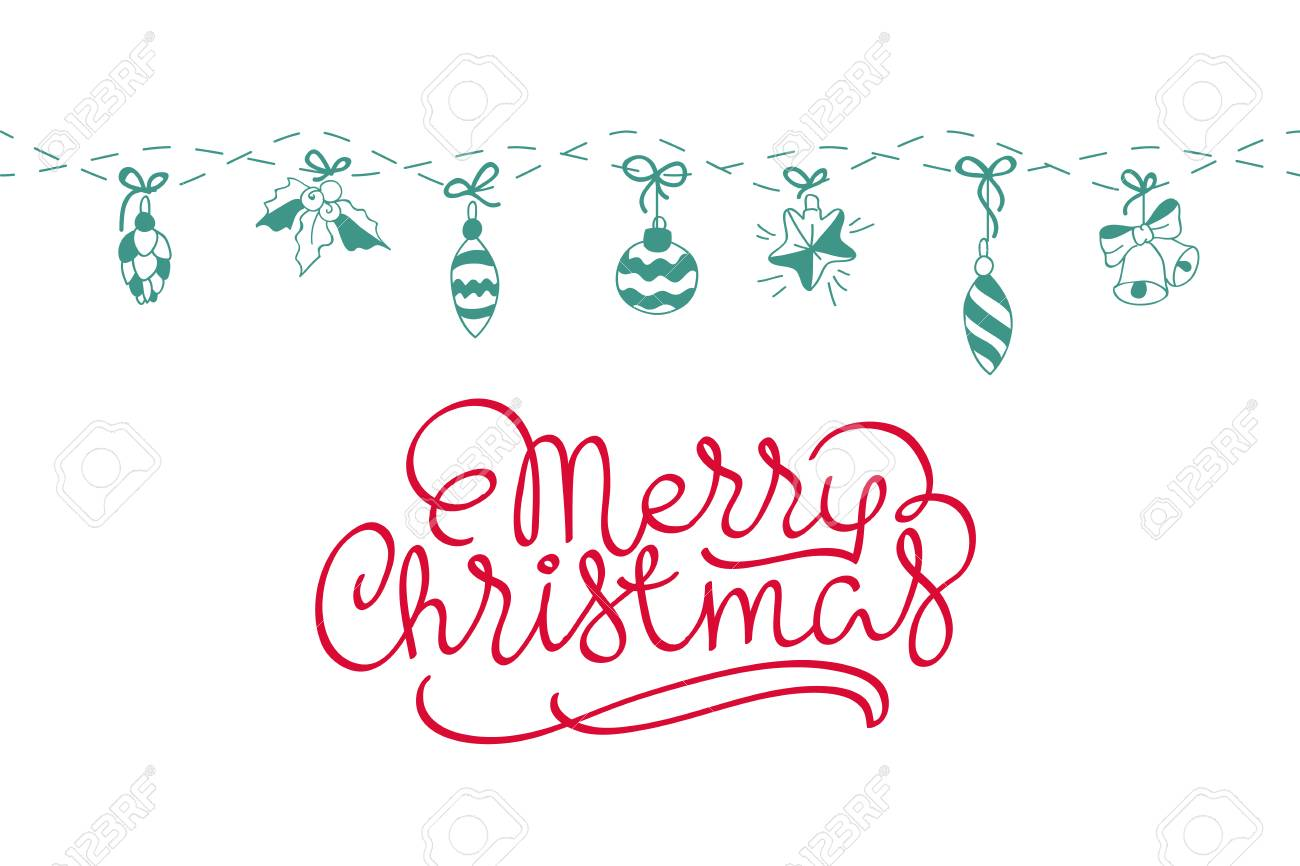 Merry Christmas background. Vector art. Perfect decoration element for cards, invitations and other types of holiday design. - 67400611