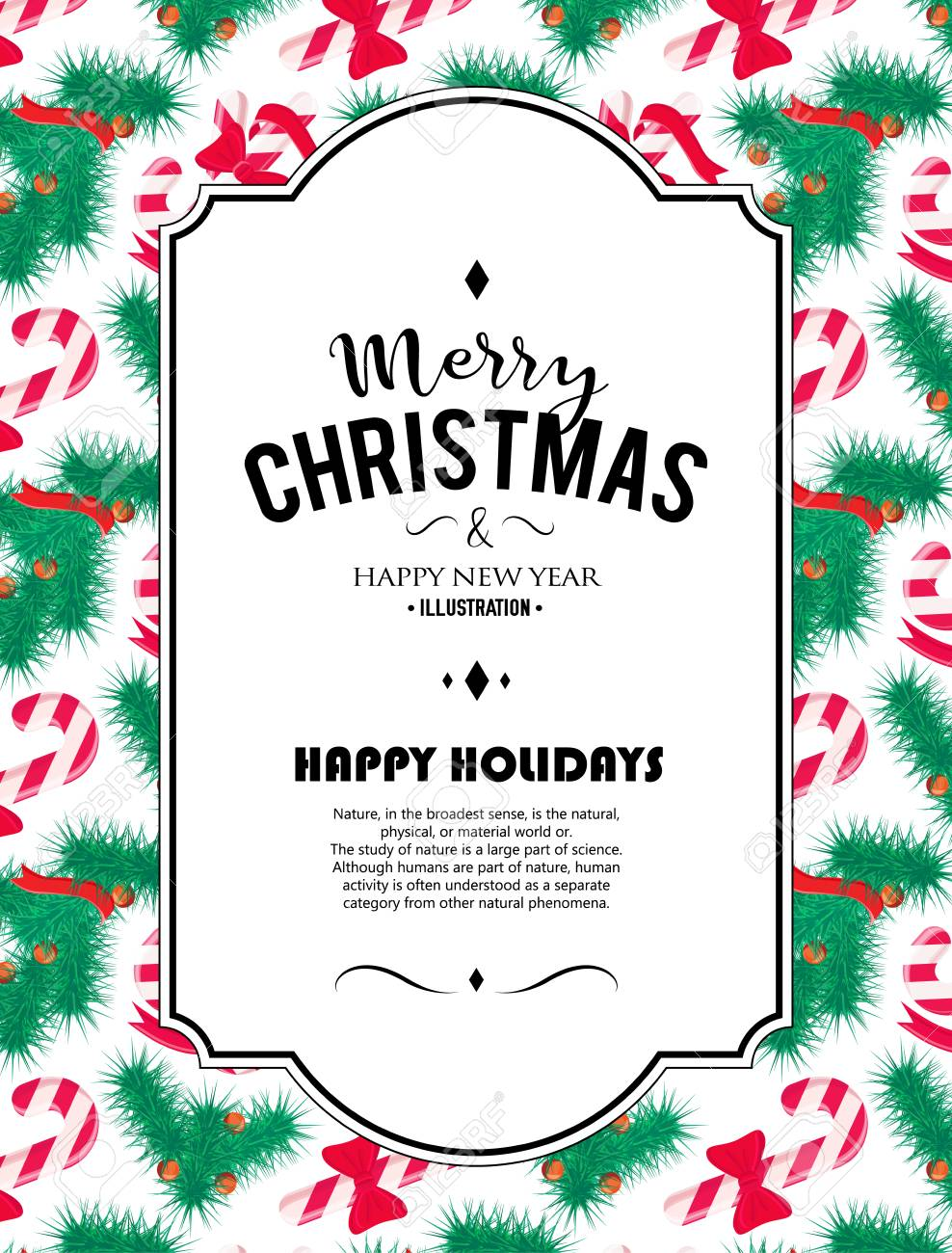 Feliz Navidad De Fondo Arte Del Vector Elemento De Decoración Perfecta Para Las Tarjetas Invitaciones Y Otros Tipos De Diseño De Vacaciones